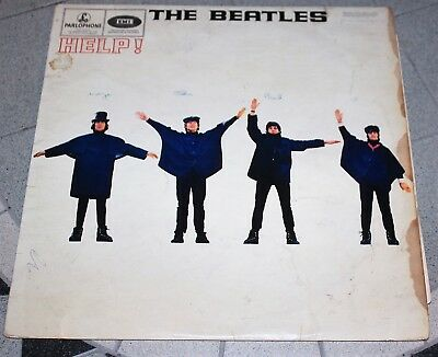 THE  BEATLES LP HELP PARLOPHONE mono PMC1255 1965 549/50-2 EARLY