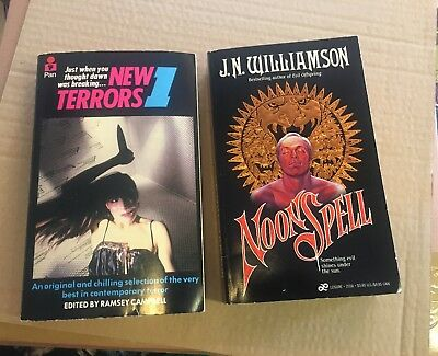 Lot Of Two Horror First Edition Paperbacks  ** Lovely Examples