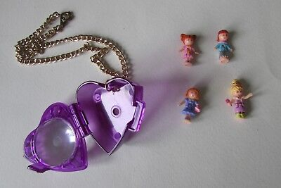 Vintage Polly Pocket  From Jewel Magic Ball 1996.4 Dolls And Locket Only