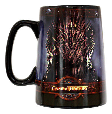 HBO Game Of Thrones Iron Throne Large Ceramic Mug 14-Ounce Collector Edition