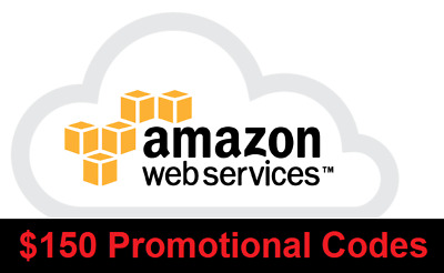 AWS $150 Amazon web services Credits Code