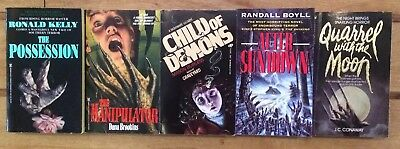 Lot Of 5 Rare Horror First Edition Paperbacks ** Lovely Examples