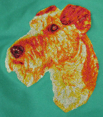 Embroidered Ladies Short-Sleeved T-Shirt - Irish Terrier DLE1556
