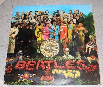 THE  BEATLES LP SERGEANT SGT PEPPERS PARLOPHONE mono PMC7027 1967 637/8-1 +CARD