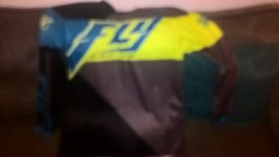 Fly racing F-16 race shirt size L adult