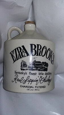 Vintage Ezra Brooks 1/2 Gallon Whiskey Jug-Frankfort-Owensboro,kentucky-Ky.