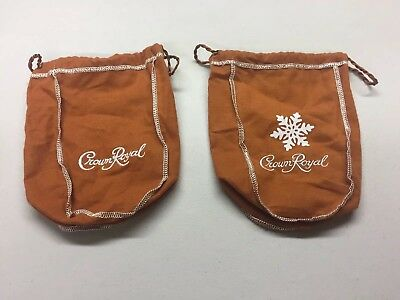 (2) Empty Limited Edition Crown Royal Salted Caramel Holiday Bags 2017 & 2018