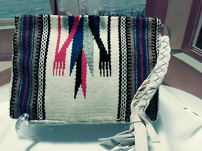 Vintage  Verkamp's Purse Clutch Bag 1940s Native American Navajo Hand Loomed EUC