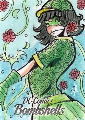 DC Comics Bombshells Series 1 - Color Sketch Card by Luro Hersal