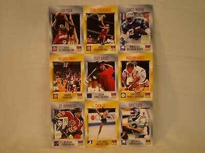 1996 SI SPORTS ILLUSTRAED FOR KIDS UNCUT SHEET w/ TIGER WOODS RC ROOKIE CARD