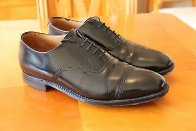 Cheaney Oxford Cap shoes size 10.5uk G Fit Black leather good condition