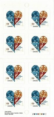 CANADA 2004 MONTREAL HEART INSTITUTE 8 x SELF ADHESIVES IN BOOKLET SB306 MINT