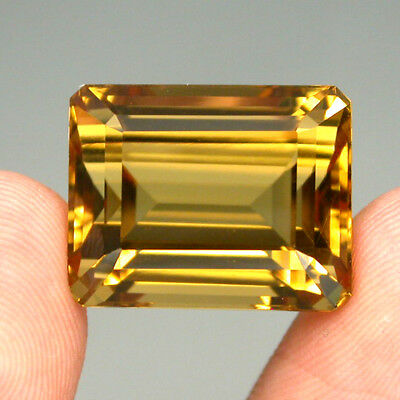 Citrine Clean 24.89ct Octagon Cut 17.5x14mm 100%natural Top Yellow Golden Brazil