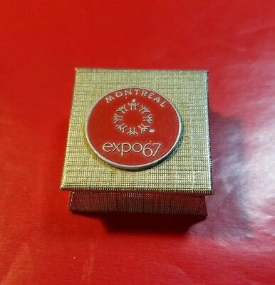 """Vintage Montreal Expo 67 Mini Case 1.25"""" X 1.25"""" X .5"""" In Excellent Condition"""