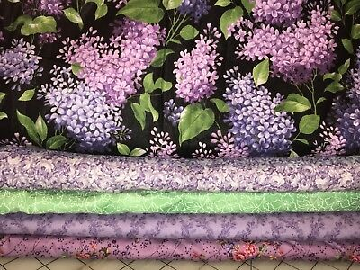 5 YARDS  Quilt Fabric Kit - Purples & Lilacs