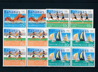 [17410] Bahamas 2000 : Olympics - 4x Good Set Very Fine MNH Stamps in Blocks