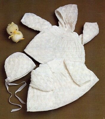 Knitting Pattern - Angel Tops and Hats-Fits Birth-9 month - 3 ply - PDF