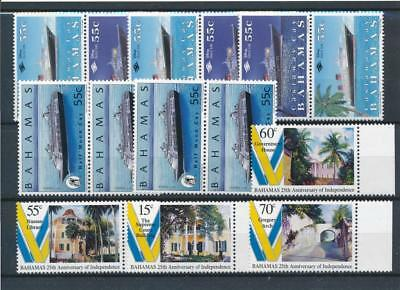[18035] Bahamas : Good Lot of Very Fine MNH Stamps