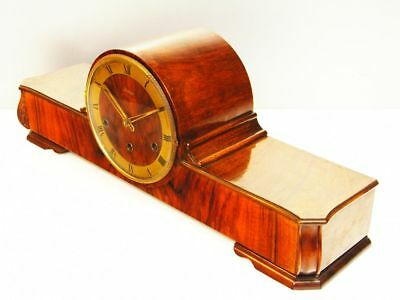 Pure Art Deco Westminster Chiming Mantel Clock From Kieninger Germany