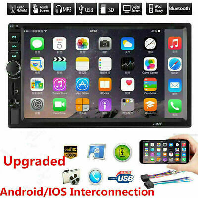 """7"""" Double 7018B 2 DIN Car GPS FM Stereo Radio MP5 Player Touch Screen Bluetooth"""