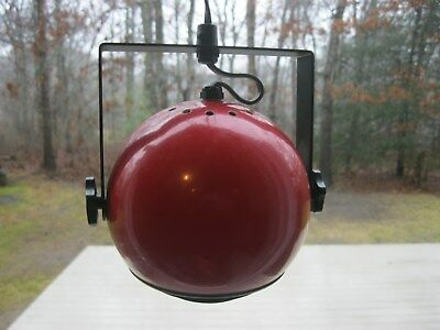 Vintage Mid Century Modern Hanging ? Red Eyeball Orb Light Kovacs ? Modernist