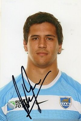 Matias Moroni - Argentina - Rugby - Signed 6X4 Photo