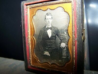 1/9th Plate Daguerreotype Distinguished Young Man Weston Photographer ID