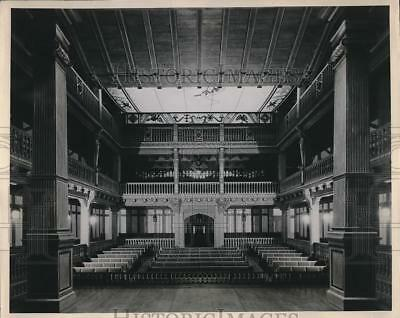 1949 Press Photo Elizabethan Theater, Folger Shakespeare Memorial Library