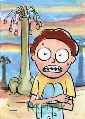 2018 Cryptozoic Rick and Morty Color Hand Drawn Sketch Card by Fabián Quintero