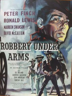 Robbery Under Arms Original Peter Finch Western Uk Half Crown Film Poster