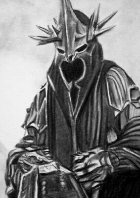 ORIGINAL ACEO sketch card LORD OF THE RINGS *SALE* the WITCH KING OF ANGMAR
