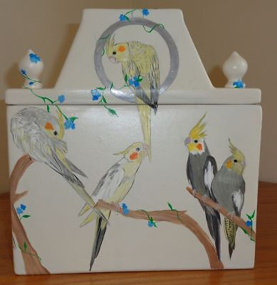 """""""cockatiels In Spring"""" - A Cockatiel Canister"""