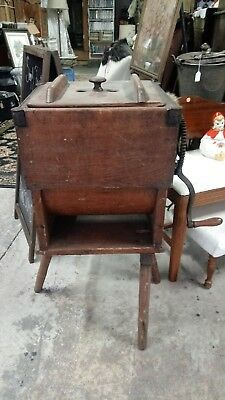 Antique wooden butter churn floor model great condition