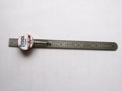 Vintage Upcycled 6 inch Pocket Ruler Tydol Flying A Advertising Made in USA