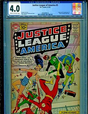 Justice League of America #5 1st Dr Destiny CGC Graded 4.0