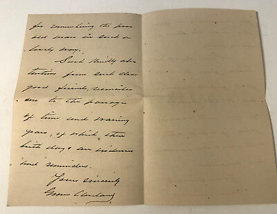 Grover Cleveland 1888 Autograph Letter Signed As President - Executive Mansion