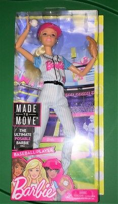 Barbie Made to Move Baseball Player Ultimate posable Doll New In Box