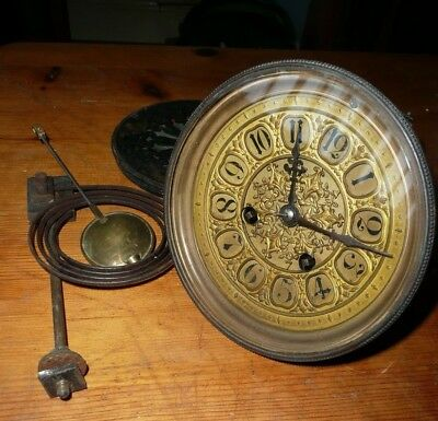 Antique clock movement with Pendulum and chime strike