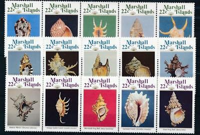 [110145] Marshall Is. Shells good Lot very fine MNH Stamps