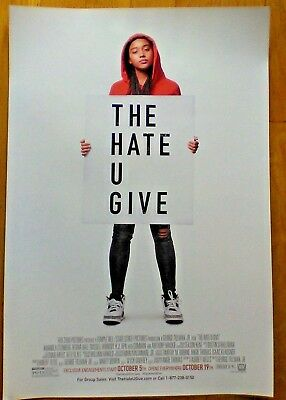 THE HATE U GIVE - 2018 13x19 ORIGINAL NEW PROMOTIONAL MOVIE POSTER brand new