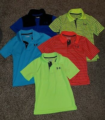 size 5 lot of 5 polo under armour boys