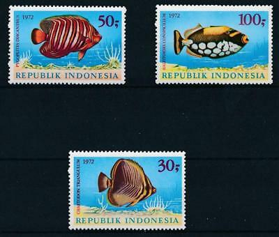 [38263] Indonesia 1972 Fishes Good set Very Fine MNH stamps