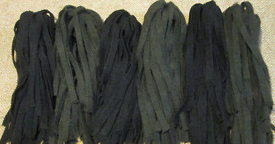 Two Dorr Blacks 150 Hand and Mill dyed  #8 Rug Hooking Wool Strips
