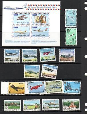 (F713)  Planes  MNH SETS & ODDS MINI SHEET MORE LISTED