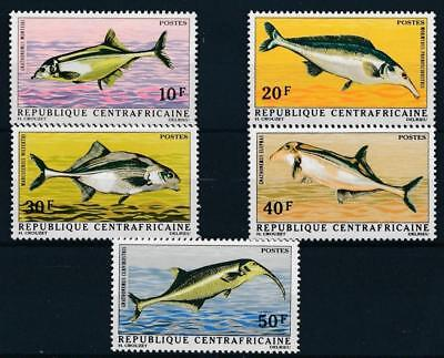 [38541] Central Africa 1971 Fishes Good set Very Fine MNH stamps