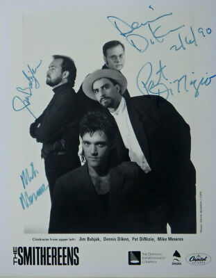 """THE SMITHEREENS Original Signed Autographed Promo 8"""" X 10"""" Publicity Photo #2"""