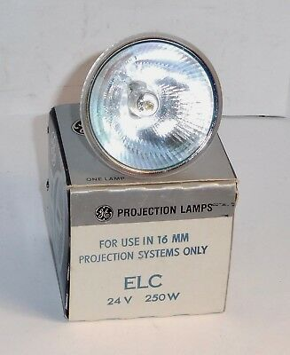 General Electric ~ ELC 24V 250W Projector Bulb. New, Old Stock