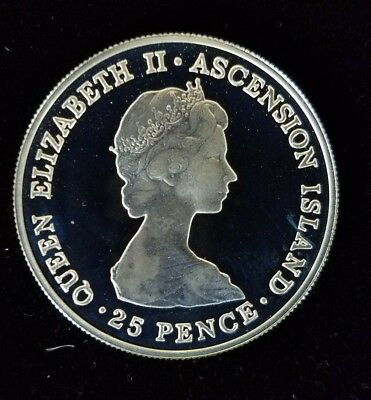 ASCENSION ISLAND Crown QE II 1981 Wedding Commem.; Silver Proof coin. 0.841 ASW