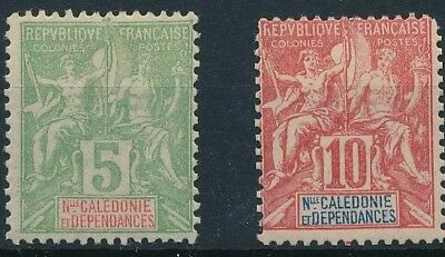 [39080] New Caledonia Two good old stamps Very Fine MH