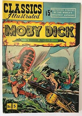 Classics Illustrated #5 HRN 71 Moby Dick Herman Melville FN/VF